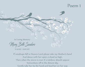 In Memory of Mom-Loss of Mother-Personalized Memorial Poem