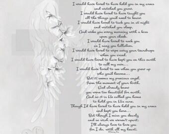 Loss of Child Memorial Gift-Baby Memorial Poem-In Loving | Etsy