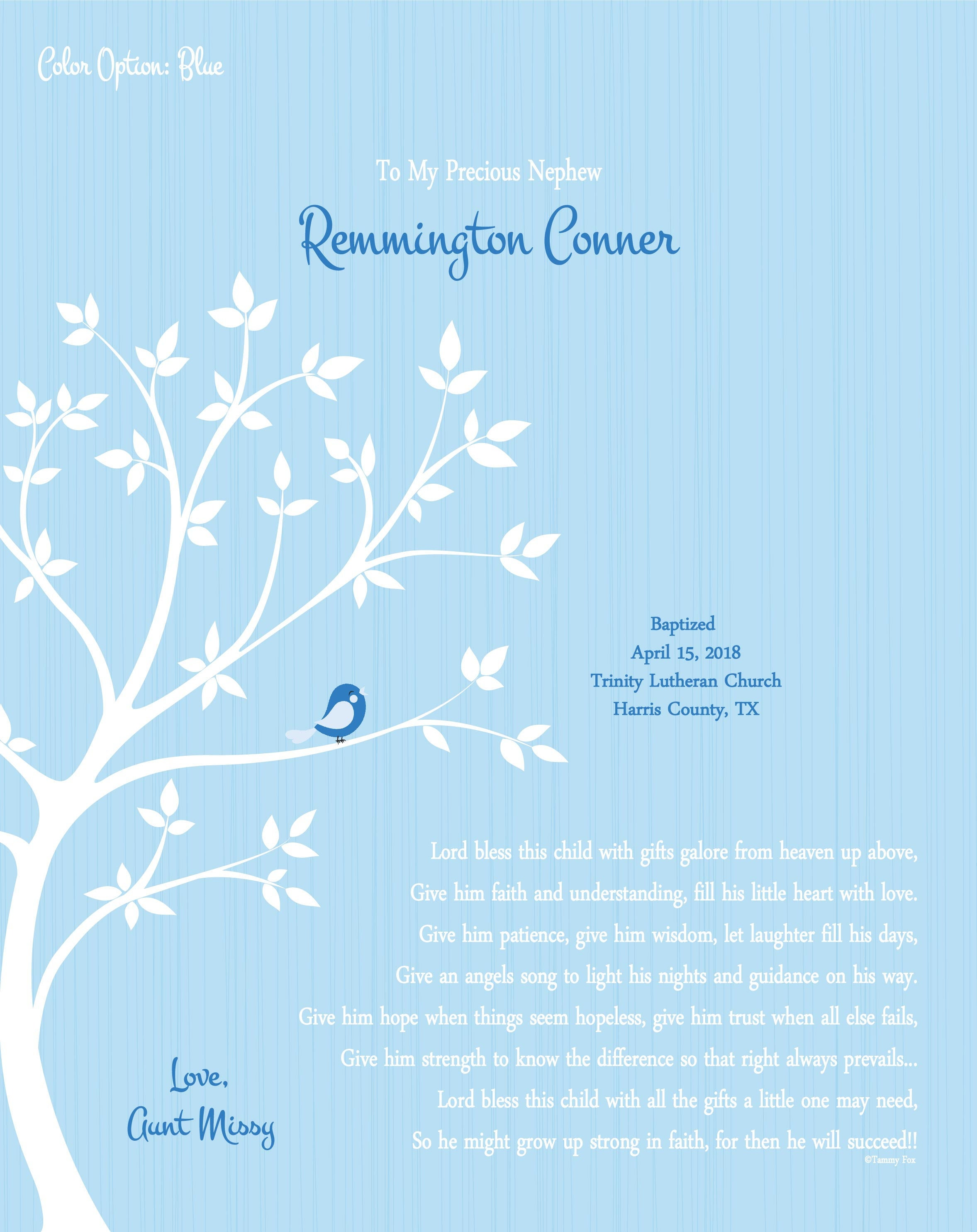 Baptism Gift Boy-Christening Print for Him-Baby Baptism | Etsy
