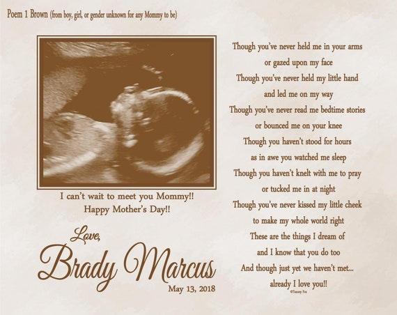 Expecting Mommy Mothers Day Gift Mommy To Be Gifts First Time Mommy Gifts Pregnancy Gifts Baby Shower Gifts Ultrasound Print Choice Of Poem