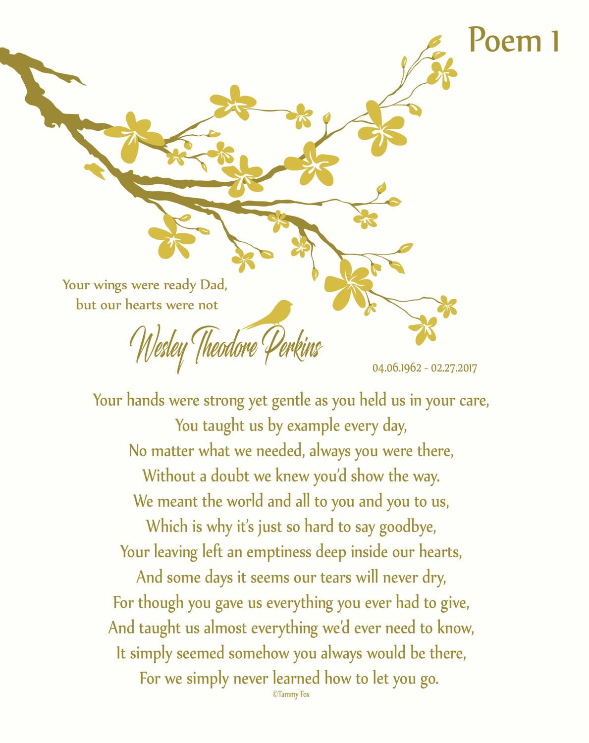 In Memory Of Father Loss Of Dad Dad Memorial Poem Dad In Heaven Personalized Memorial Print Sympathy Gift Remembrance Print Choice Of Poem