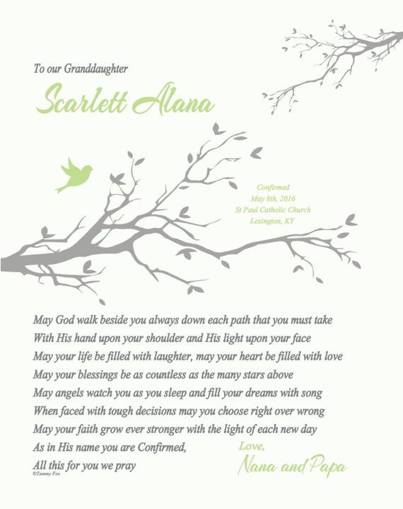 Personalised Confirmation Etc Photo Keepsake Photo Gift /& Poem For Boy Girl