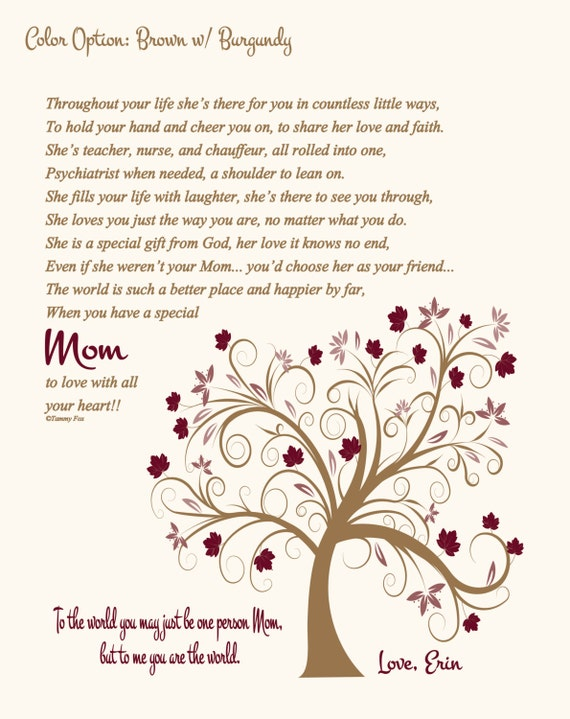 To Mom From Children Poem Christmas Gift For
