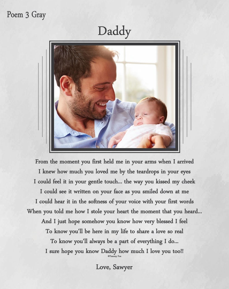 Custom Fathers Day Gift From Baby Personalized