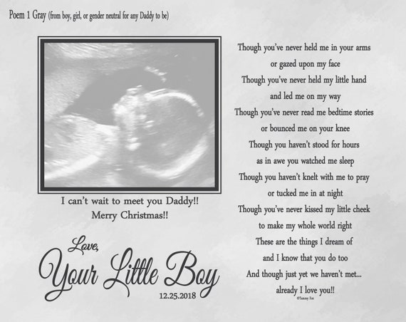Expecting Daddy Christmas Gift Gift From Unborn Baby Father To Etsy