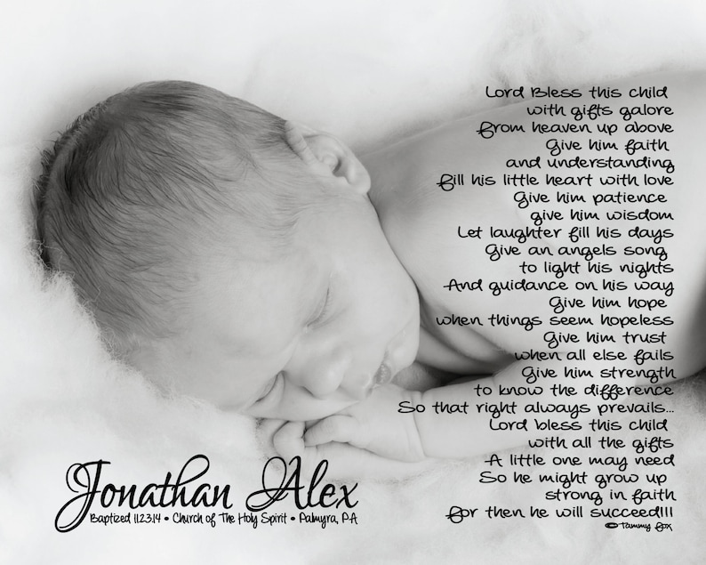 Baptism Gift For Godson Grandson Baby Boy Lord Bless This image 0