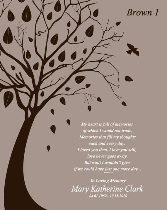 Loss of Son-Loss of Daughter-Memorial Poem-Sympathy Gift-Wife  Memorial-Husband Memorial-Loss of Sister-Loss of Brother-One More Day Poem