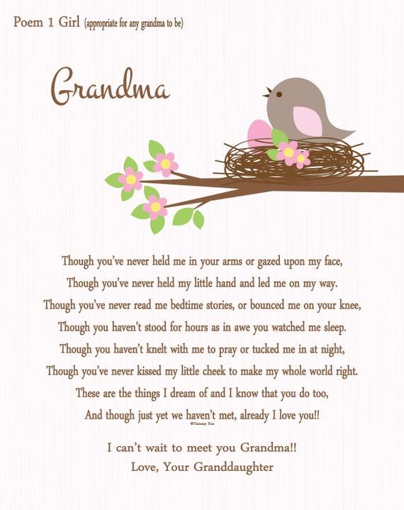 Grandma GRANDMOTHER GRANDPA GRANDFATHER  Poem Personalized Name ART Print Prayer