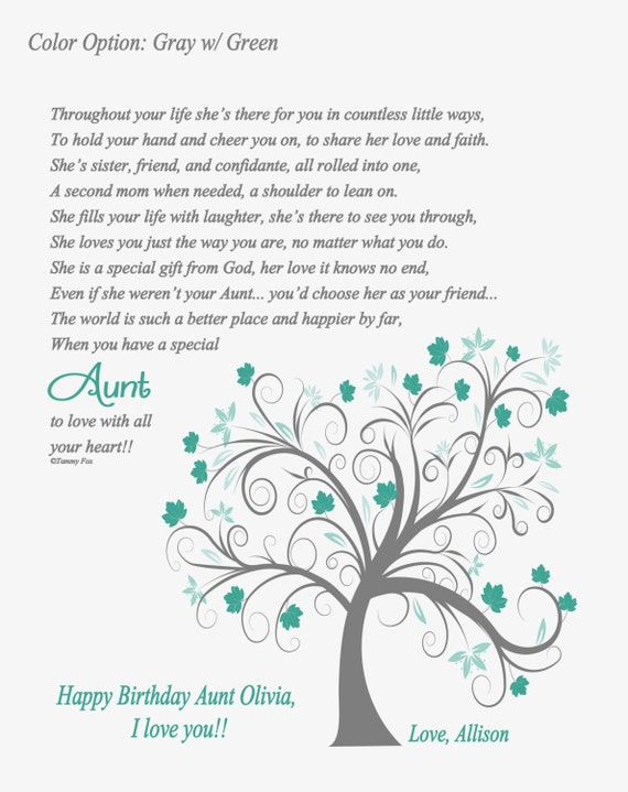 Aunt Birthday Gift Thank You Gift For Aunt Christmas Gift For