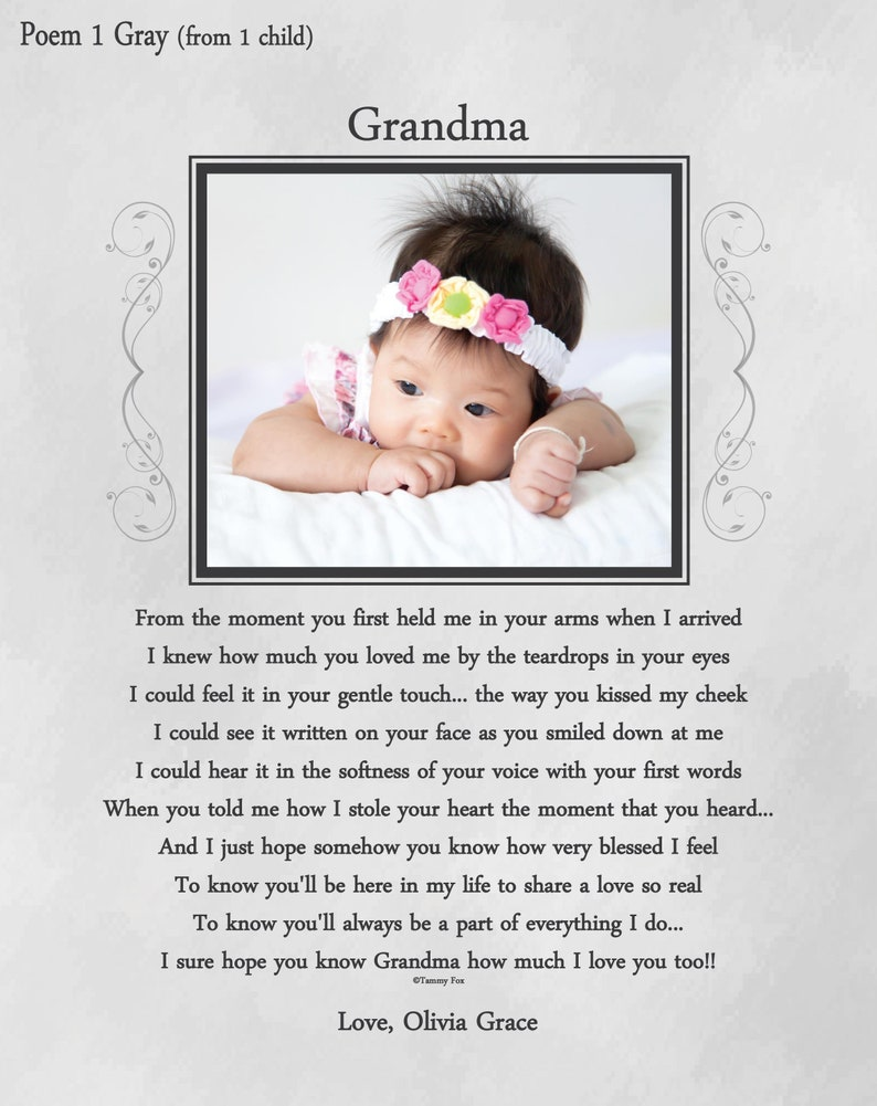 Mothers Day Gift For Grandma Personalized Gifts Grandmother Ideas New Nana Mimi Thank You Choice Of Poem