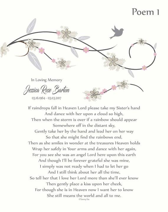 In Memory Of Sister Loss Of Sister Sister Memorial Etsy
