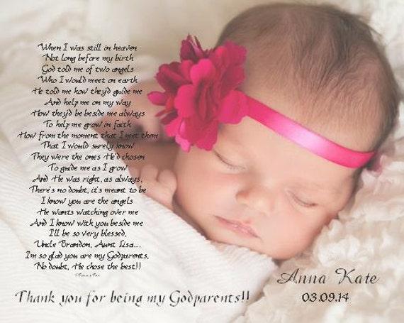 Baptism Gift For Godmother Godfather Godparents Personalized Etsy
