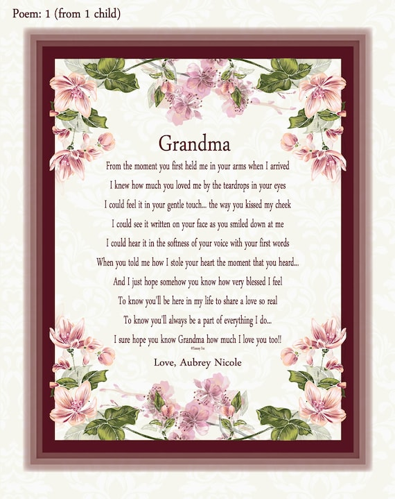 Grandma Mother S Day Gift Grandma Gifts From Etsy