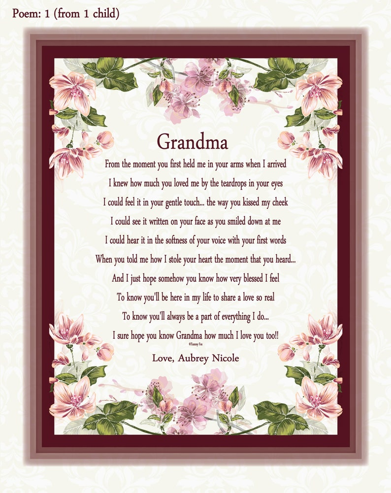 Grandma Mothers Day Gift Gifts From