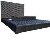 Platform Oversized Ottoman Bed Storage Grandioso Tufted Velvet Family California King Queen Full Twin Frame CUSTOM ORDER