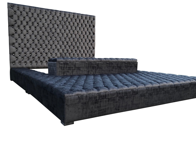 Platform Oversized Ottoman Bed Storage Grandioso Tufted Velvet Etsy