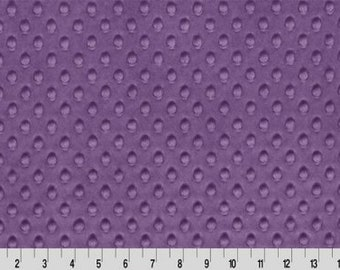 Violet Minky dimple dot cuddle fabric by the yard