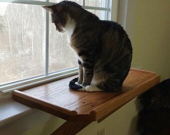 Cat Window Perch - Cat Window Sill Shelf - Cat Bed - No Tools Installation