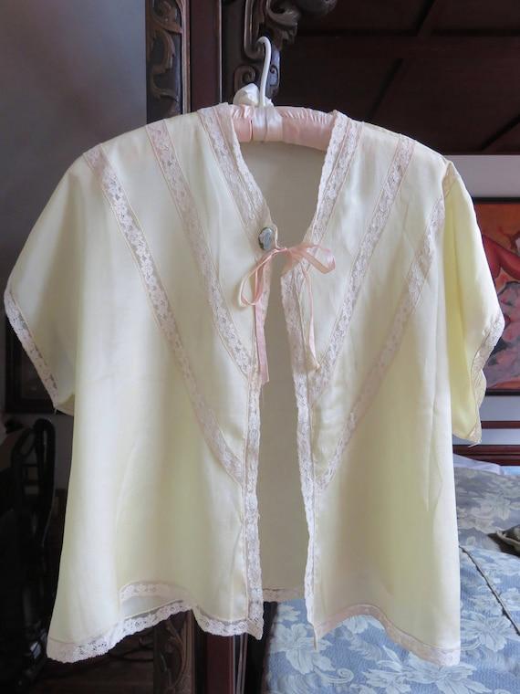 1930's Silk Bed Jacket