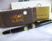 Mont Blanc Meisterstuck 144 EF Gold Vintage Fountain Pen