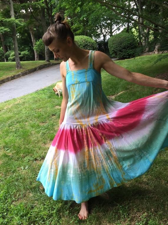 The Definitive Hippie Tie Dye Dress