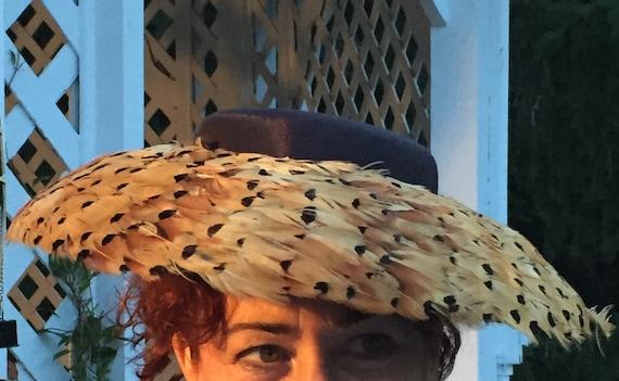 Pheasant Feather Audrey Hepburn Hat