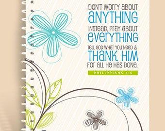 Don't Worry Birdie / Prayer Journal / Lined Journal / Personalized Notebook / Prayer Notebook / Devotional