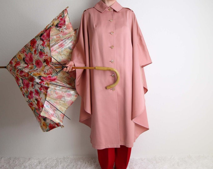 Vintage Cape Pink Dusty Rose Womens Jacket Outerwear