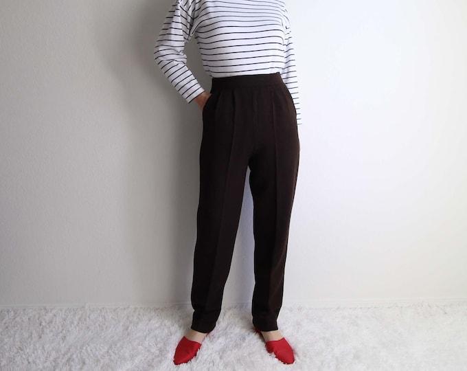 Vintage St John Knit Pants Womens Pants Size Small Brown