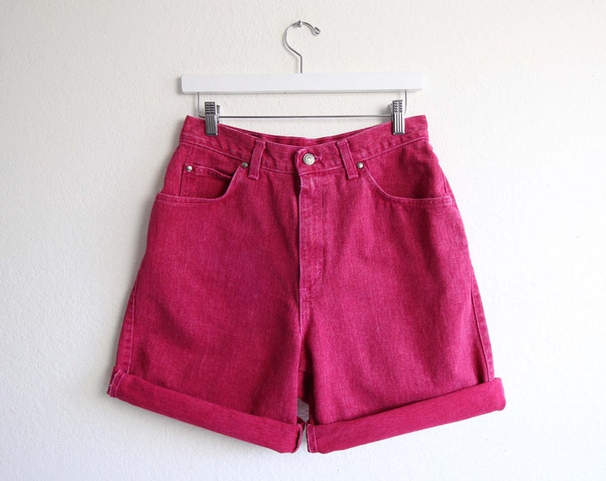 Vintage Pink Denim Shorts Womens Jean Shorts 29 Levis Made in USA