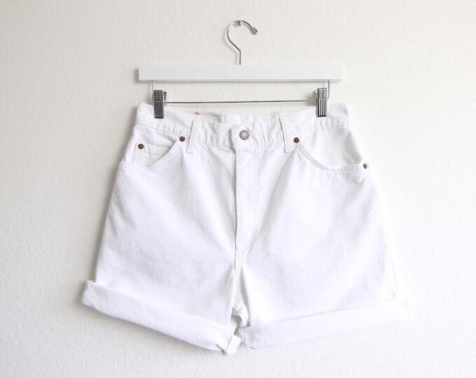 Vintage Levis Jean Shorts Womens White Denim 29 Medium Made in USA Levis 951