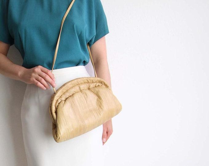 Vintage Purse Shoulder Bag 1980s Soft Caramel