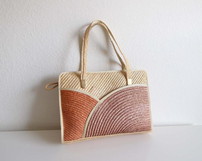 Vintage Straw Shoulder Bag Handbag
