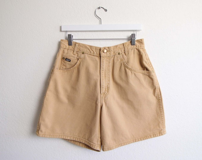 Vintage Jean Shorts Womens Denim Shorts 30 1980s Chic Jeans Caramel High Waist Made in USA  Large