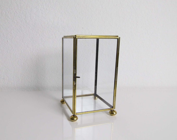 Vintage Display Box Glass Brass Vintage Home Decor