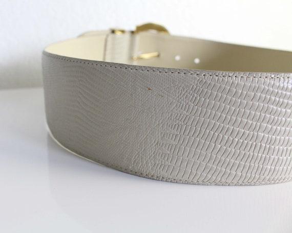 Vintage Womens Belt 1980s Wide Leather Belt - image 6