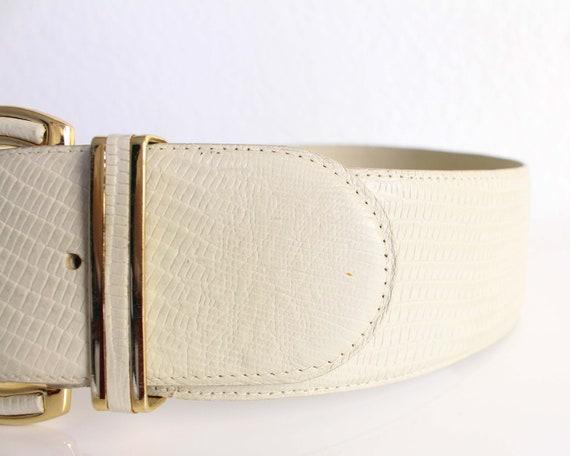 Vintage Womens Belt 1980s Wide Leather Belt - image 10