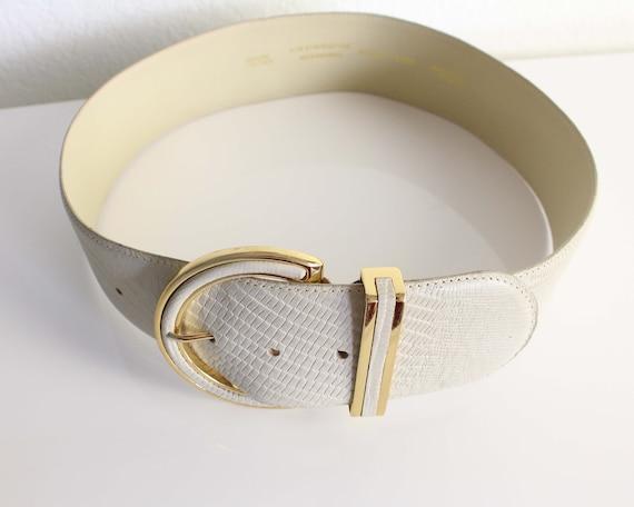 Vintage Womens Belt 1980s Wide Leather Belt - image 2