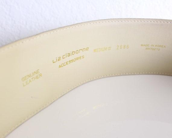 Vintage Womens Belt 1980s Wide Leather Belt - image 9