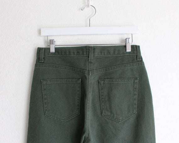 Vintage Womens Jeans 30 High Waist 1990s Green Me… - image 4
