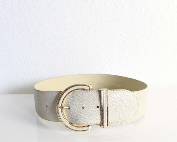 Vintage Womens Belt 1980s Wide Leather Belt - image 3