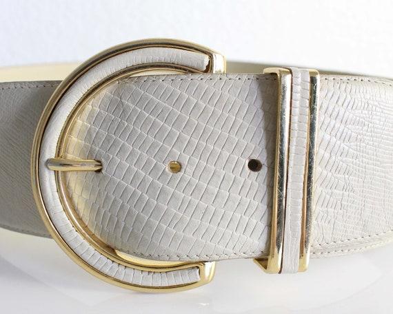 Vintage Womens Belt 1980s Wide Leather Belt - image 4