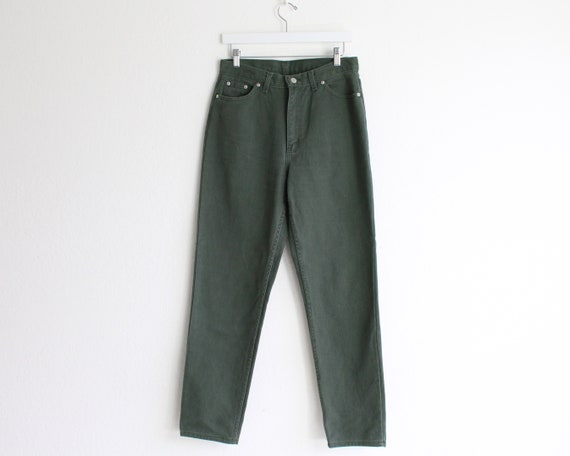 Vintage Womens Jeans 30 High Waist 1990s Green Me… - image 2