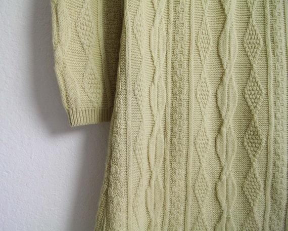 Vintage Sweater Dress Womens Small 1960s Mod Wool… - image 9