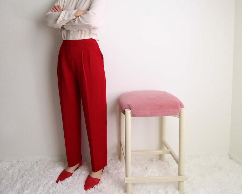 0a0c0dc6 Vintage Red Pants Womens Small St John Knit High Waist