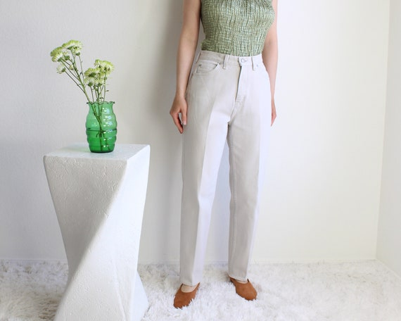 Vintage Womens Jeans 30 High Waist 1990s Green Me… - image 7