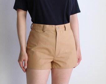Vintage 1970s Womens Shorts Khaki Hot Shorts Medium 27