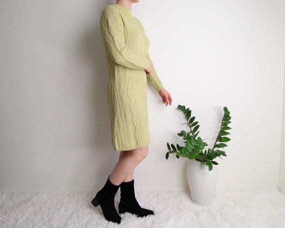 Vintage Sweater Dress Womens Small 1960s Mod Wool… - image 5