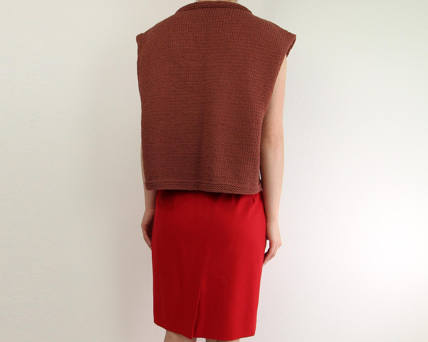 9b6adaf150781 VINTAGE Cropped Sweater Sleeveless Knit Top. gallery photo gallery photo  gallery photo gallery photo gallery photo