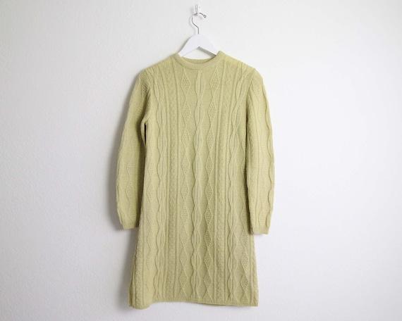 Vintage Sweater Dress Womens Small 1960s Mod Wool… - image 2